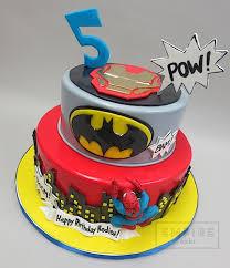 spider man batman u0026 iron man city empire cake