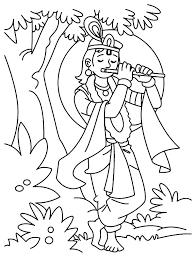 krishna prepare jump river coloring pages krishna