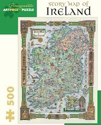 story map of ireland 500 piece jigsaw puzzle