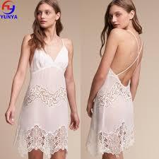 Nightgowns For Honeymoon Lady Sleepwear Transparent Cross Straps Mini Women Night
