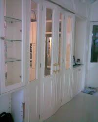 vintage white mirror bifold closet doors with cool bifold closet
