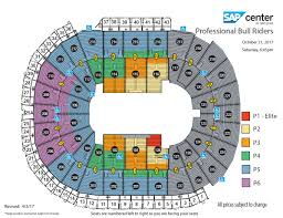 San Jose Convention Center Floor Plan Professional Bull Riders Built Ford Tough Series Sap Center