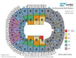key arena floor plan professional bull riders built ford tough series sap center