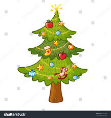 Beautiful Christmas Tree On White Background Stock Vector
