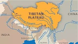 what is the exact location of origin of indus river is it in