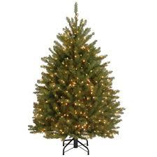 delightful decoration dunhill fir pre lit tree 7 5 foot