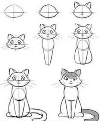 how to draw a cat step by step for kids drawing pinterest