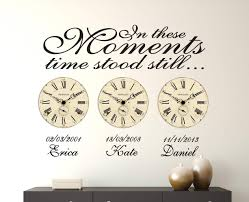 hold the moment with date of birth clock decals by ey in these moments time stood still date of birth wall decal stickers
