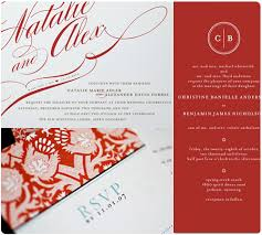 Red Wedding Invitations Navy Wedding Invitations