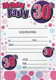 30th birthday party invitations for her cimvitation