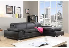 meublez com canapé canapé d angle en cuir pas cher vesuvio noir tetiere relax prix