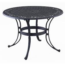 Round Wooden Patio Table by Shop Home Styles Biscayne 48 In W X 48 In L Round Aluminum Dining