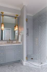 bathroom tile ideas grey white kitchen with stacked cabinets and grey island home bunch
