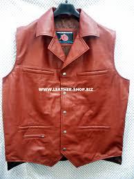 leather vest leather vest western style mlv88 4 inside pockets for sale