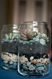 Mason Jar Wall Planter by 562d507305743aed86ea3e6f3cd0dc8a Succulents Sand And Stones In