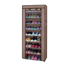 portable 10 tier shoe rack shelf storage closet organizer cabinet