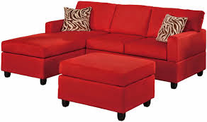 l shape red velvet sofa with triple seat plus back and arm rest