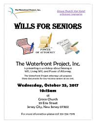 Wills And Power Of Attorney by Wills For Seniors U2013 Upcoming Workshop U2013 The Waterfront Project Inc