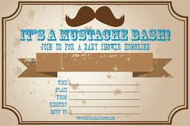 mustache baby shower invitation templates theruntime com