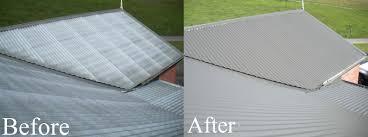 metal roof restoration brisbane roof restorations