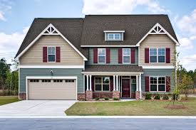 red homes grayson c exterior craftsman style home green and tan siding