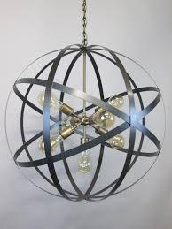 Orb Ceiling Light Modern Industrial Orb Chandelier Ceiling Light 24 Inch Sphere