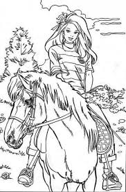 horse riding coloring free download