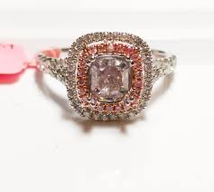 light pink engagement rings 1 10ct fancy light intense pink engagement ring