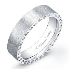 mens wedding band with diamonds la diamond factory men s wedding band