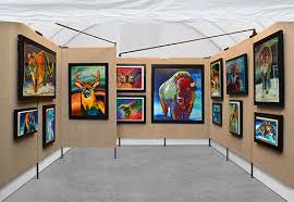 art show ideas bermangraphics clean booth pictures for jurying