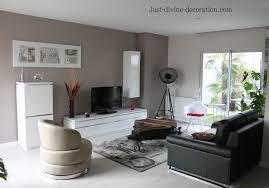 séjour contemporain taupe gris blanc noir intérieur par