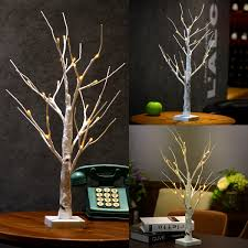silver birch twig tree led warm white light white branches home