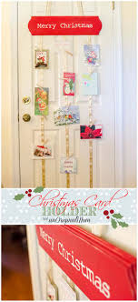 christmas holder diy hanging christmas card holder unoriginal