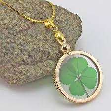 clover leaf necklace images Four leaf clover gold charm necklace jewel box dailies jpg