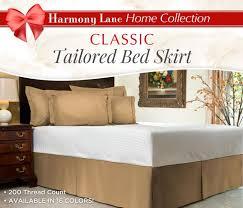 Harmony Platform Bedroom Set Amazon Com Harmony Lane Tailored Bed Skirt 18 Inch Drop Pink