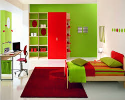 Modern Single Bedroom Designs And Boy Bedroom Themes Red Stained Wooden Single Bed Natural
