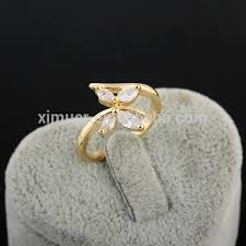 butterfly rings gold images Popular latest gold crystal butterfly ring design buy ring jpg