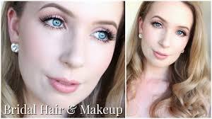 bridal hair u0026 makeup for very pale skin u0026 blue eyes youtube