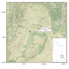 County Map Utah by 1988 U2013 San Rafael Swell Ut U2013 M 5 3 U Of U Seismograph Stations