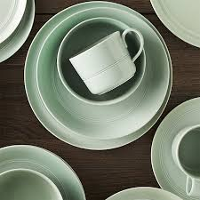 hue green dinnerware crate and barrel