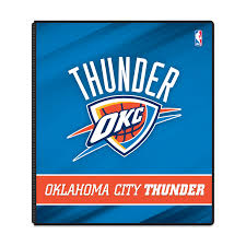 Okc Thunder Home Decor Nba Oklahoma City Thunder 3 Ring Binder 175 Sheet Capacity 1