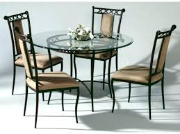 Wrought Iron Dining Table And Chairs Wrought Iron Dining Table With Wood Top Beblincanto Tables