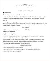 education coordinator resume event planner resume template 11 free samples examples format