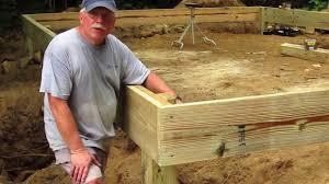 diy shed askthebuilder how to build a wood frame floor part 1