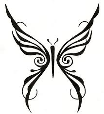 gorgeous tribal butterfly by ginabeauvais on
