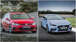 volkswagen hatch old hyundai i30 n vs vw golf gti facelift hatch photo comparison