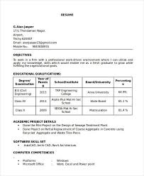 resume sle civil engineer fresher resumes 16 best fresher resume templates pdf doc free premium