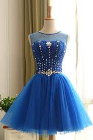 royal blue tulle shiny royal blue tulle mini party dress beaded halter prom