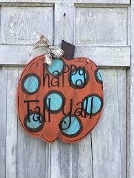 pumpkin door hanger autumn door hanger chevron pumpkin sign