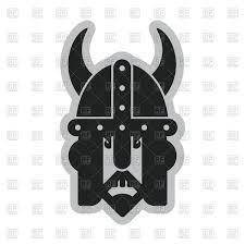 viking head with helmet viking logo royalty free vector clip art